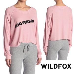 NWT Wildfox Monte Crop Dog Person Sweatshirt/Tee